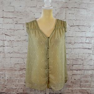 Butterfly Wonderful Parade Peasant Blouse EUC A7